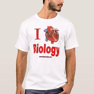 Camiseta Eu amo a biologia