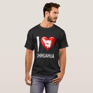 Camiseta Eu amo a chihuahua do coração