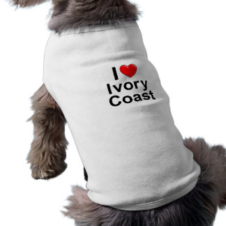 Camiseta Eu amo a Costa do Marfim do coração