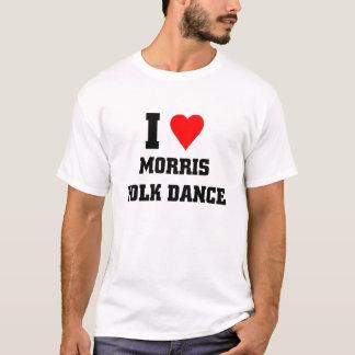 Camiseta Eu amo a dança popular de Morris