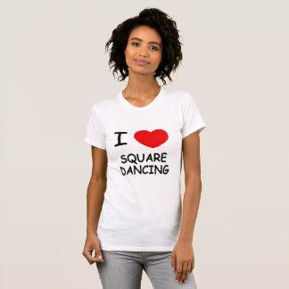 Camiseta Eu amo a dança quadrada