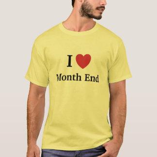 Camiseta Eu amo a extremidade de mês amo-me - homem da