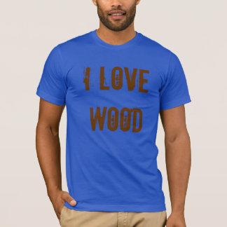 """Camiseta """"Eu amo"""" a ferramenta de madeira do carpinteiro"""