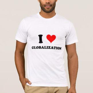 Camiseta Eu amo a globalização