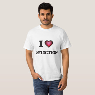Camiseta Eu amo a inflição