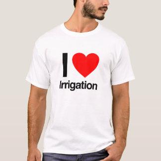 Camiseta eu amo a irrigação