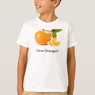 Camiseta Eu amo a laranja!!!