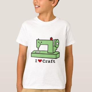 Camiseta Eu amo a máquina de costura de Kawaii do ofício