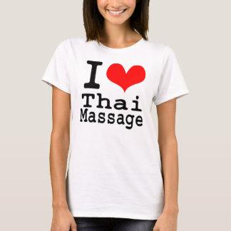 Camiseta Eu amo a massagem tailandesa