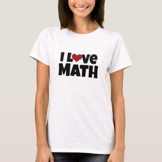 Camiseta Eu amo a matemática
