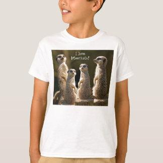 Camiseta Eu amo a MeerkatsT-Camisa