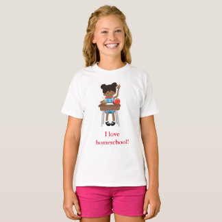 Camiseta Eu amo a menina home da escola