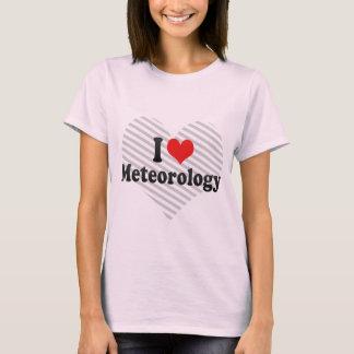 Camiseta Eu amo a meteorologia