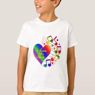 Camiseta Eu amo a música 60s