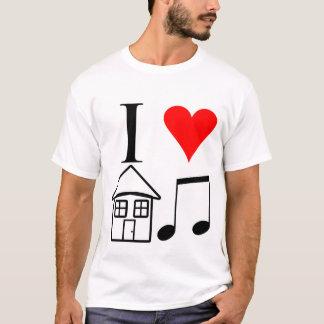 Camiseta Eu amo a música da casa