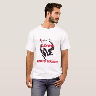 Camiseta Eu amo a música de Jesus