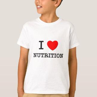 Camiseta Eu amo a nutrição