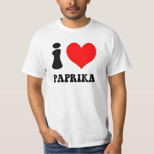 Camiseta Eu amo a paprika