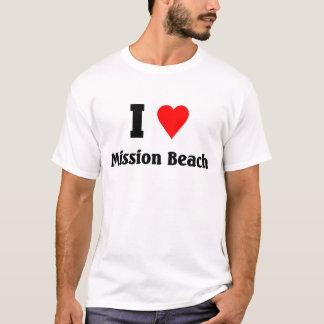 Camiseta Eu amo a praia da missão
