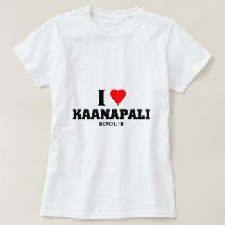 Camiseta Eu amo a praia de Kaanapali