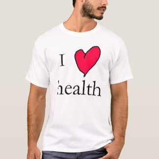 Camiseta Eu amo a saúde