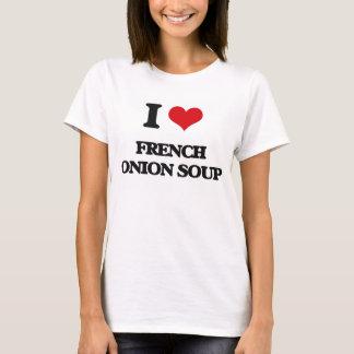 Camiseta Eu amo a sopa francesa da cebola