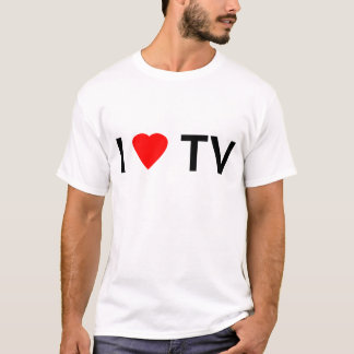 Camiseta Eu amo a tevê