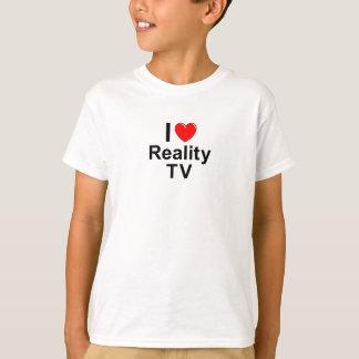 Camiseta Eu amo a tevê da realidade do coração