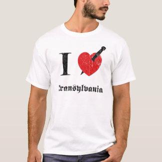 Camiseta Eu amo a Transilvânia (a pia batismal corrmoída