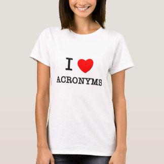 Camiseta Eu amo acrônimos