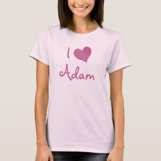 Camiseta Eu amo Adam