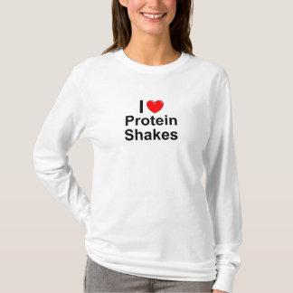 Camiseta Eu amo agitações da proteína do coração