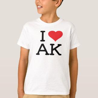 Camiseta Eu amo AK - coração - os miúdos T