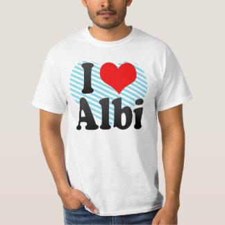 Camiseta Eu amo Alby, France