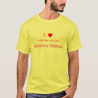 Camiseta Eu amo alguém luz Mutism seletiva