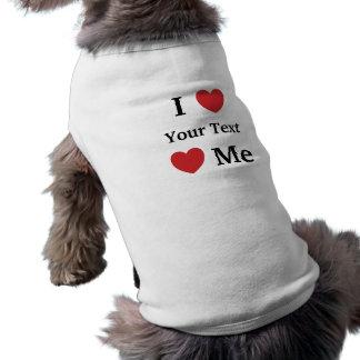 Camiseta Eu amo amores mim roupa do cão de Personalisable