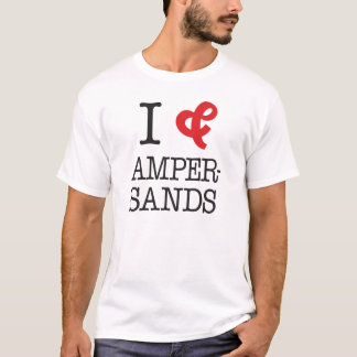 Camiseta Eu amo Ampersands