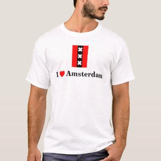 Camiseta Eu amo Amsterdão (que inclui o logotipo de