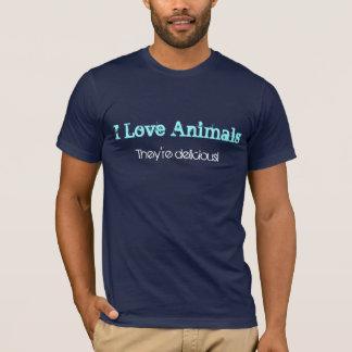 Camiseta Eu amo animais, eles sou delicioso!