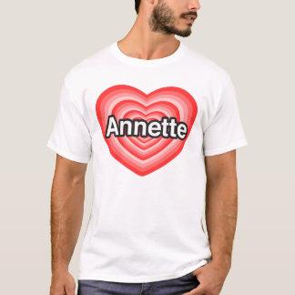 Camiseta Eu amo Annette. Eu te amo Annette. Coração