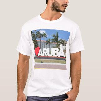 Camiseta Eu amo Aruba - uma ilha feliz