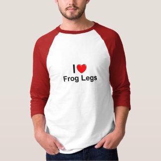 Camiseta Eu amo as pernas de sapo do coração