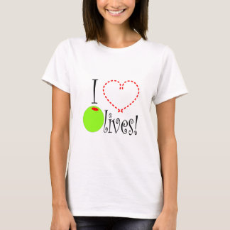 Camiseta Eu amo azeitonas