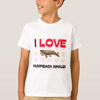 Camiseta Eu amo baleias de Humpback