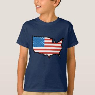 Camiseta Eu amo bandeira de América - os Estados Unidos