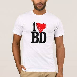 Camiseta eu amo bangladesh (bd)