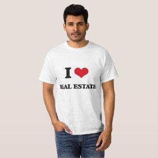 Camiseta Eu amo bens imobiliários