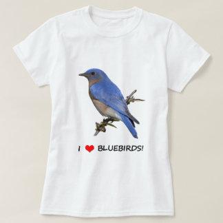Camiseta Eu amo Bluebirds (do coração)