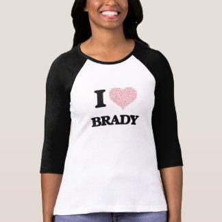 Camiseta Eu amo Brady (o coração feito das palavras do
