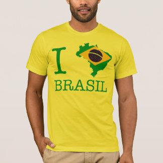 Camiseta Eu amo Brasil, mim amo Brasil